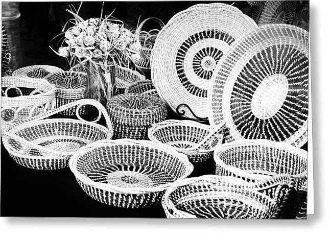 Basketmaking Greeting Cards - Sweetgrass Baskets Greeting Card by Ray Summers Photography