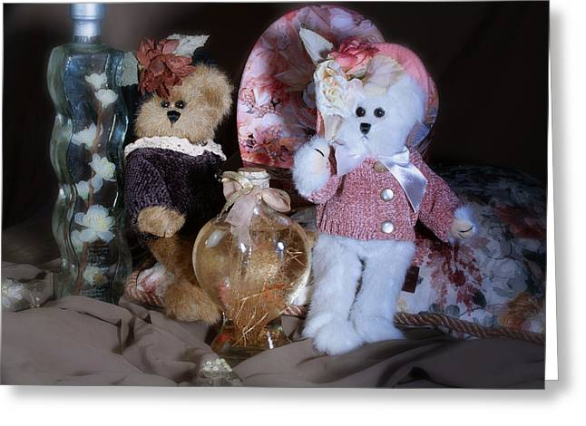 Baby Room Greeting Cards - Sweetheart Bears Greeting Card by Camille Lopez