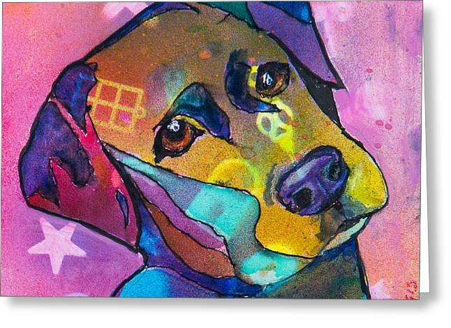 Mixed Labrador Retriever Greeting Cards - Sweetie Greeting Card by Roger Wedegis