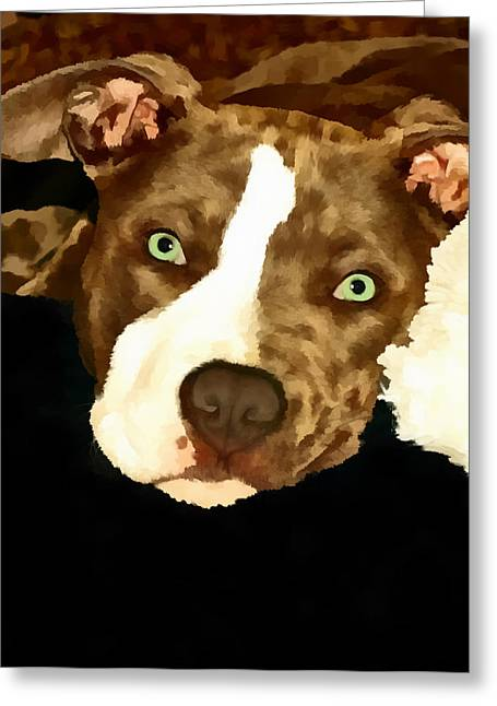Puppies Pastels Greeting Cards - Sweetness Greeting Card by Deanna Maxwell