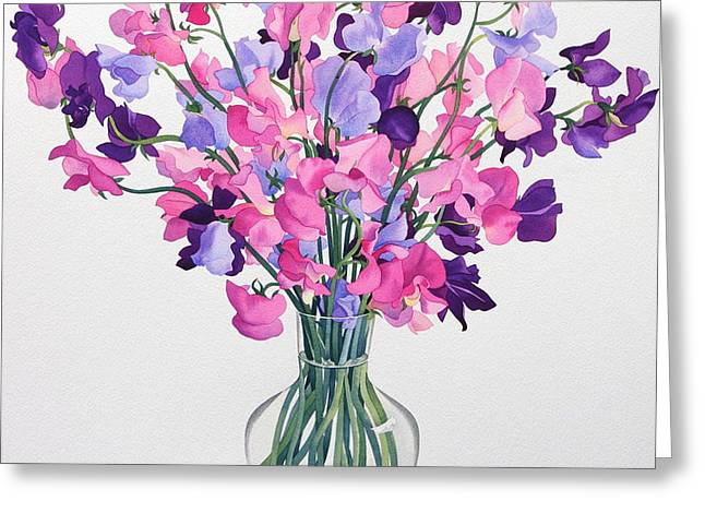 Sweetpeas Greeting Card by Christopher Ryland
