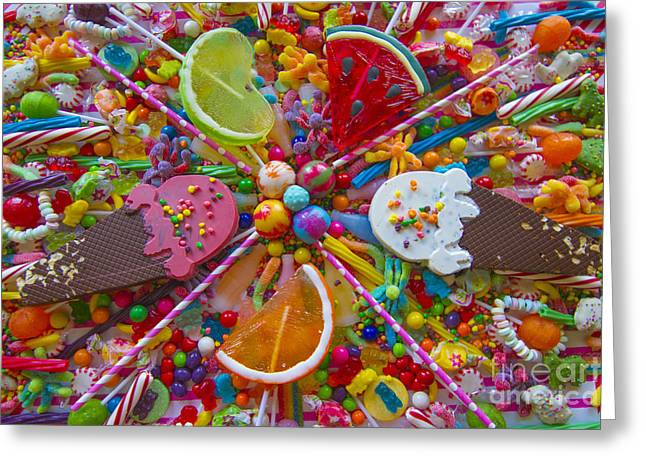 Food Digital Art Greeting Cards - Sweets 1 Greeting Card by Aimee Stewart