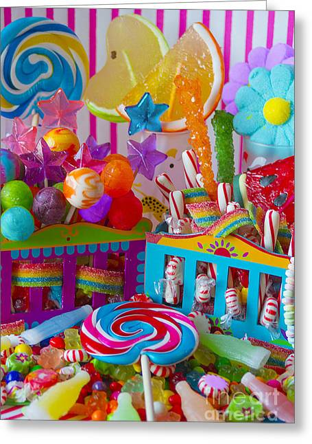 Children Ice Cream Greeting Cards - Sweets 3 Greeting Card by Aimee Stewart