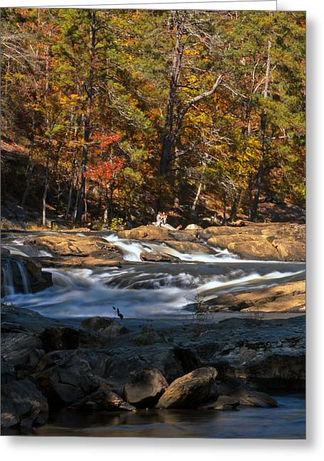 Sweetwater Greeting Cards - Sweetwater Creek Falls Greeting Card by Jamie Anderson