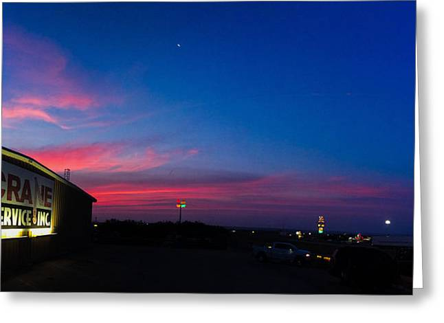 Sweetwater Greeting Cards - Sweetwater Texas Sunrise Greeting Card by Chris Martin