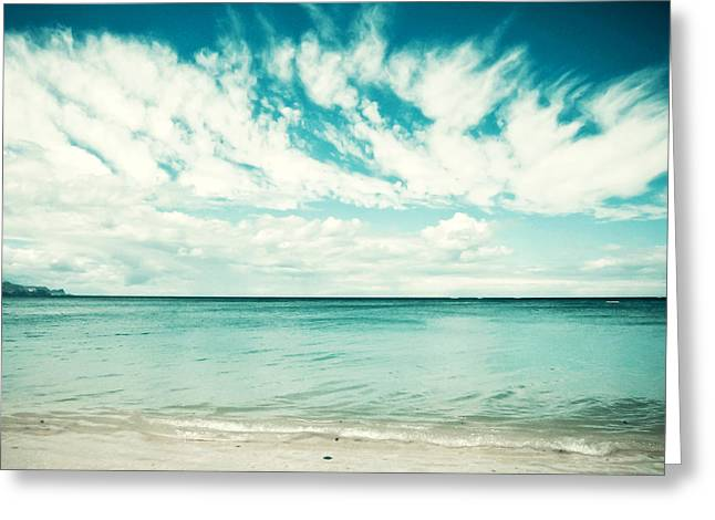 Beach Photographs Greeting Cards - Swept Away Greeting Card by Lupen  Grainne