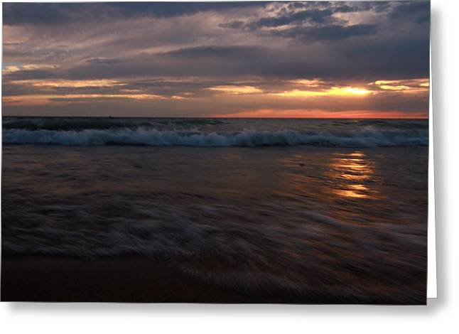 Moving Away Greeting Cards - Swept Away Sunset Greeting Card by Dan Sproul