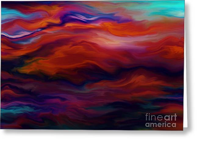 Turbulent Skies Digital Art Greeting Cards - Swept By Volcanic Sky Greeting Card by Kyle Wood