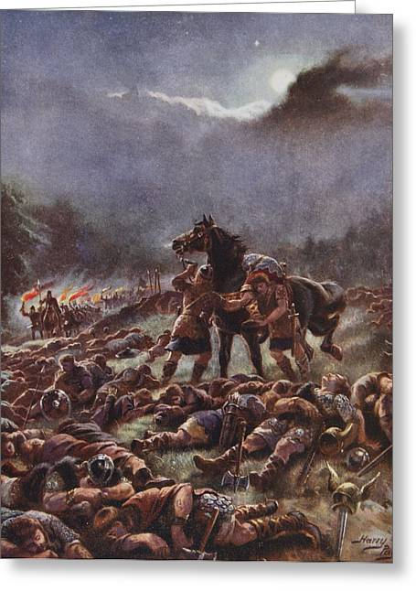 Dead Soldier Greeting Cards - Sweyns Poisoned Army, Illustration Greeting Card by Henry A. Payne