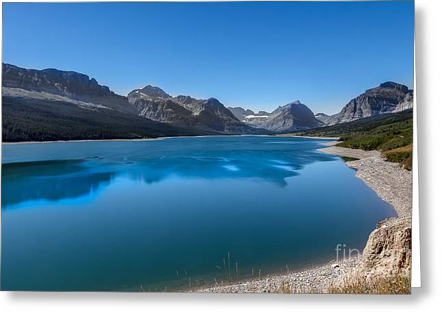 Bale Greeting Cards - Swiftcurrent Lake  Greeting Card by Robert Bales