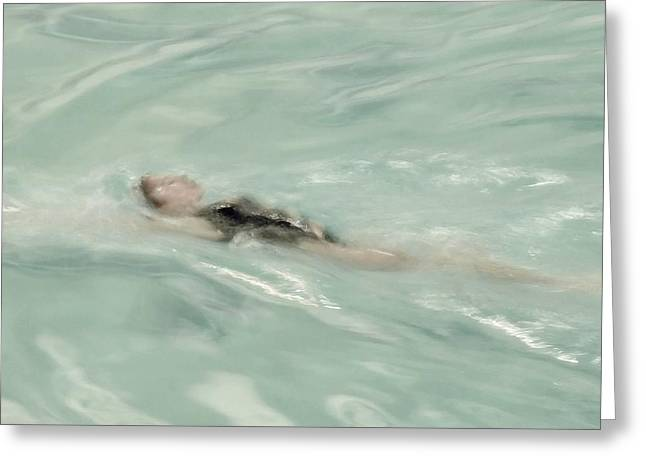 Best Sellers -  - Beach Cottage Style Greeting Cards - Swimmer Greeting Card by Patricia Strand