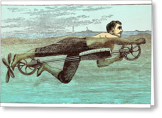 Swimming Apparatus Greeting Card by David Parker