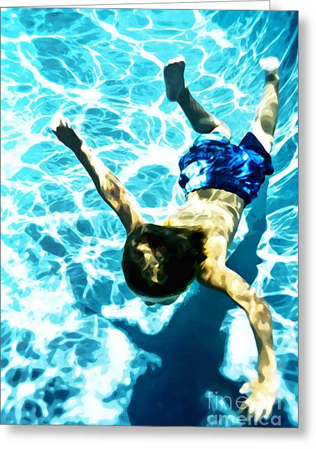 Recently Sold -  - Underwater Photos Greeting Cards - Swimming Deep Greeting Card by Lifestyle Photos By Tara