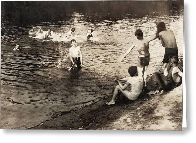 Swimming Hole, 1916 Greeting Card by Granger