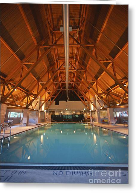 Alaskan Architecture Greeting Cards - Swimming Pool Greeting Card by Chris Selby