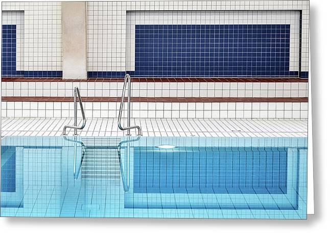 Swimming Greeting Card by Renate Reichert