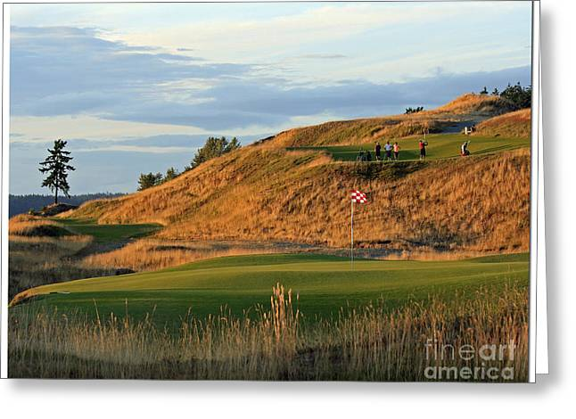 University Place Greeting Cards - Swing - Chambers Bay Golf Course Greeting Card by Chris Anderson