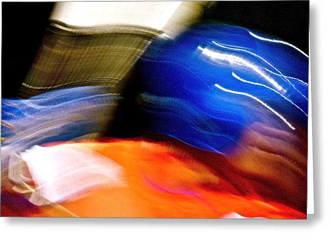 Batting Helmet Greeting Cards - Swing in Motion Greeting Card by Jean Doepkens Wright