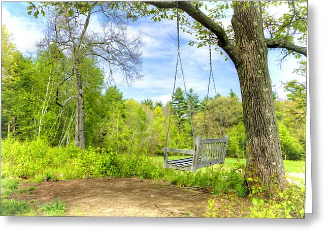 Paradise Road Greeting Cards - Swing in Paradise Greeting Card by Donna Doherty