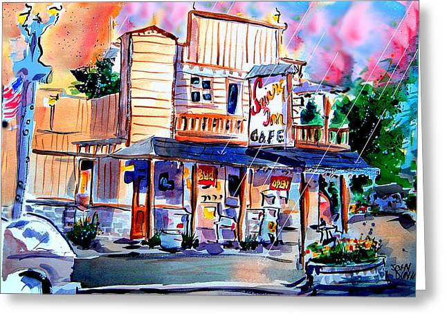 Old Town Temecula Greeting Cards - Swing Inn Greeting Card by John Dunn