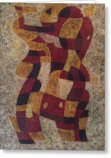 Abstract Tapestries - Textiles Greeting Cards - Swing Greeting Card by Kevin Houchin