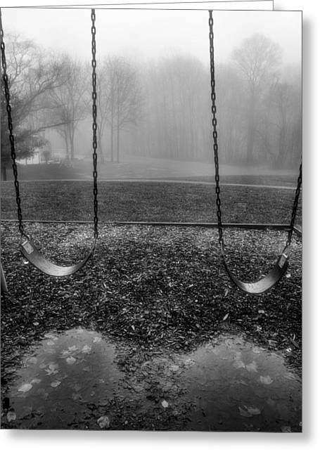Swingset Greeting Cards - Swing Seats I Greeting Card by Steven Ainsworth