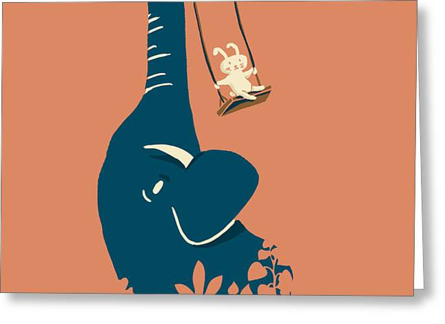 Swing Swing Greeting Card by Budi Satria Kwan