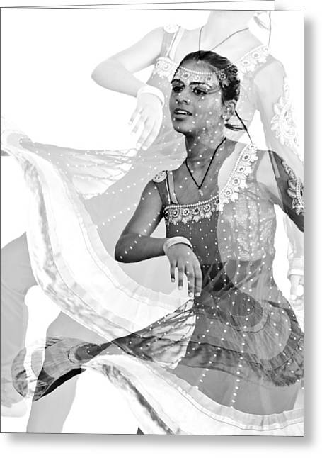 Candid Portraits Greeting Cards - Swing Skirt Greeting Card by Diana Angstadt