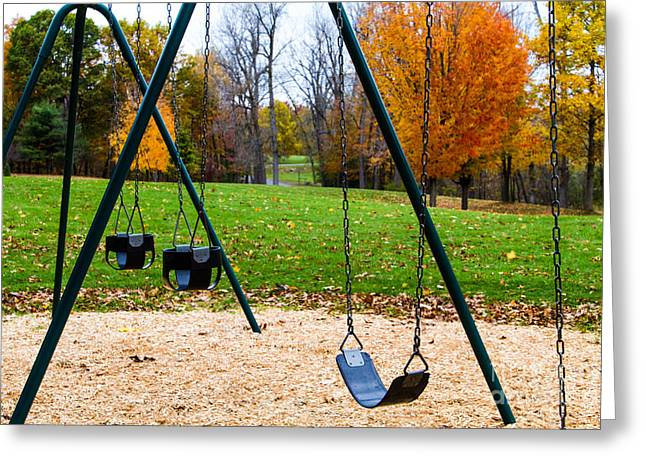 Mendon Greeting Cards - Swings Greeting Card by William Norton