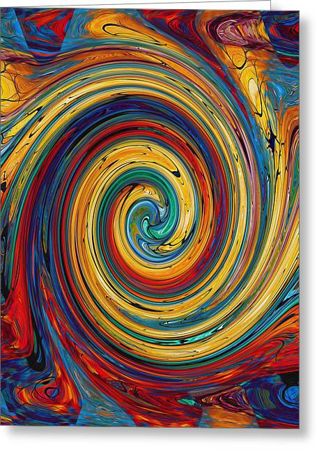 Swirl 38 Greeting Card by Lanjee Chee