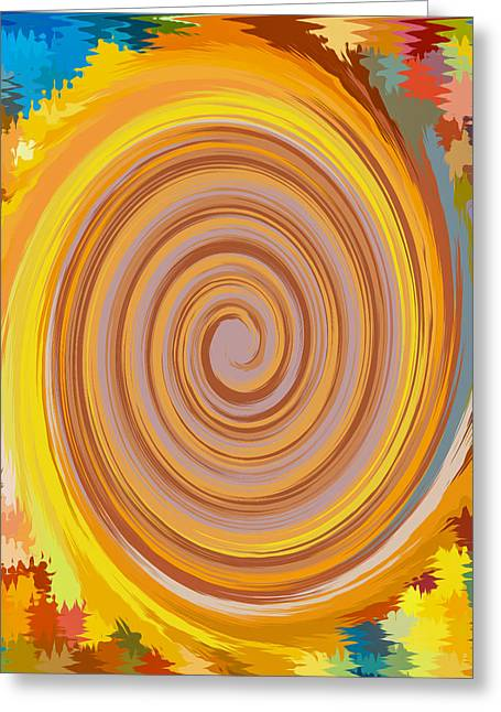 Nature Greeting Cards - Swirl 81 Greeting Card by Lanjee Chee