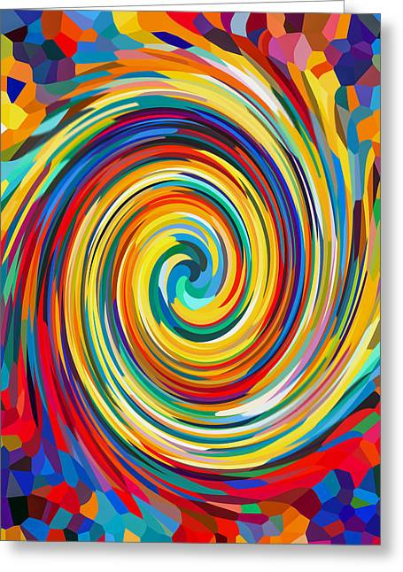 Swirl 86 Greeting Card by Lanjee Chee
