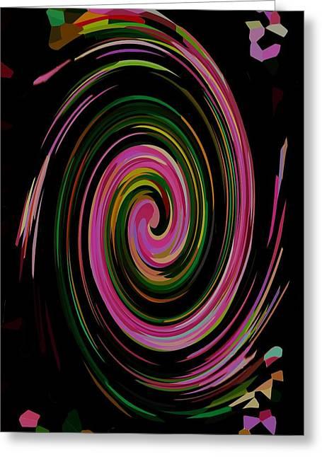 Swirl 98 Greeting Card by Lanjee Chee