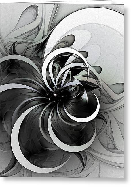 Floral Digital Art Digital Art Greeting Cards - Swirl Greeting Card by Amanda Moore