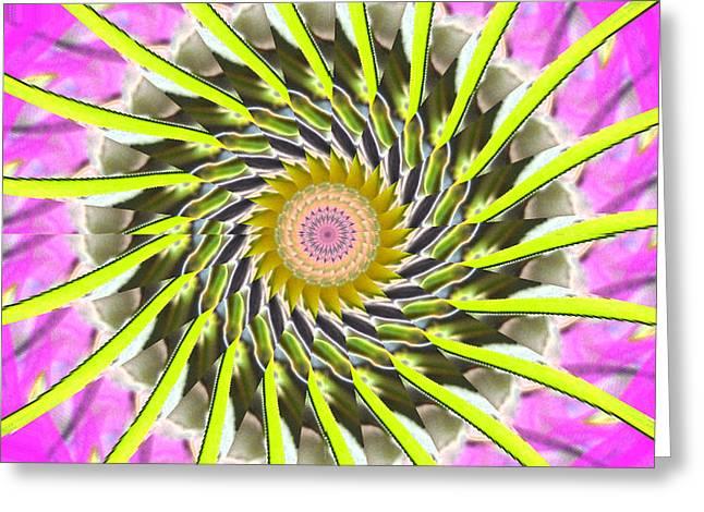 Swirl Greeting Card by Bobbie Barth