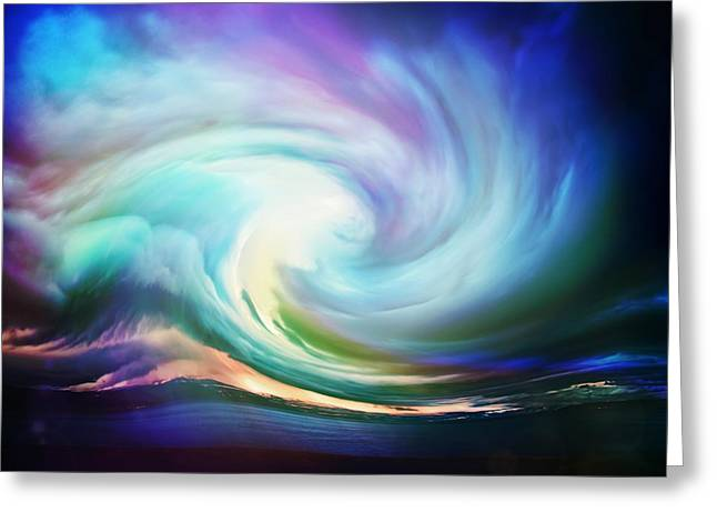 Amazing Sunset Greeting Cards - Swirl of sky Greeting Card by Lilia D