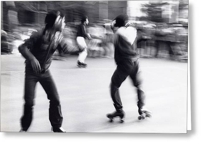 Roller Skates Greeting Cards - Swirl Greeting Card by Steven Huszar