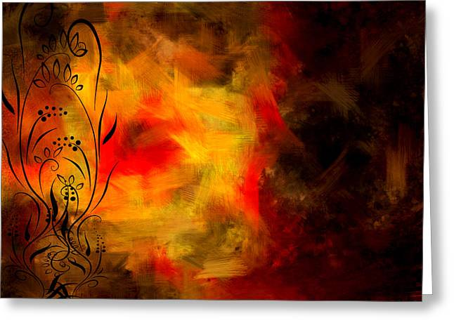 Abstract Impressionism Digital Art Greeting Cards - Swirled Greeting Card by Lourry Legarde
