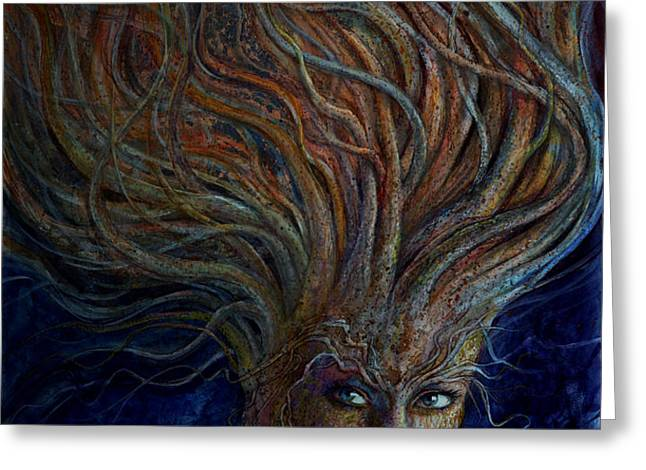 Swirling Beauty Greeting Card by Frank Robert Dixon