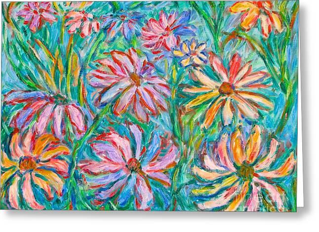 Kendall Kessler Greeting Cards - Swirling Color Greeting Card by Kendall Kessler