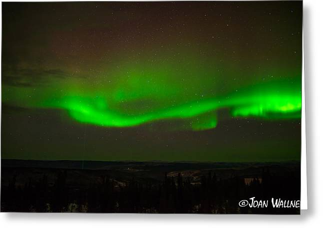Shades Of Red Greeting Cards - Swirling Northern Lights Greeting Card by Joan Wallner