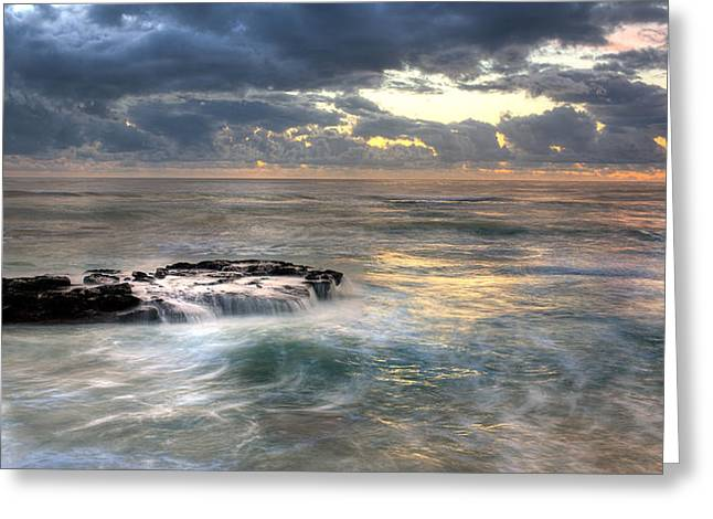 Swirling Seas Greeting Card by Peter Tellone