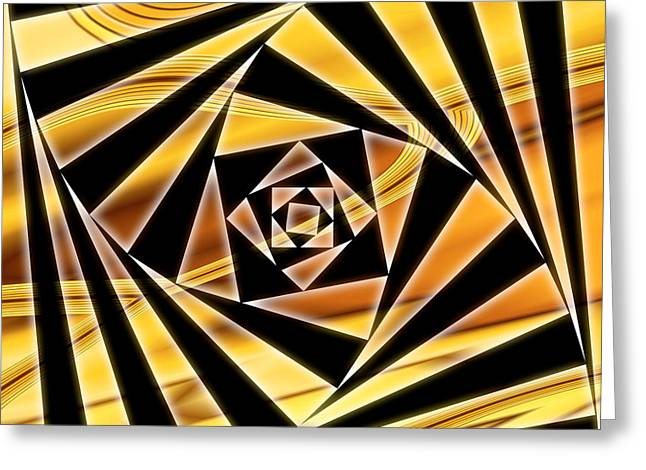 Office Greeting Cards - Swirling Spirals Greeting Card by Christopher Gaston