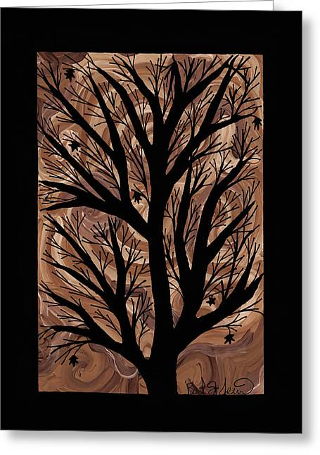 Earth Tones Drawings Greeting Cards - Swirling Sugar Maple Greeting Card by Barbara St Jean