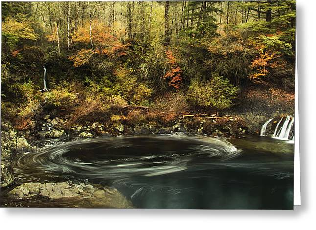 Water Flowing Greeting Cards - Swirling Waters Greeting Card by Angie Vogel