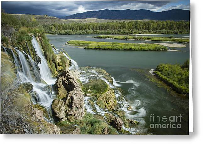 Landscap Greeting Cards - Swirling Waters Greeting Card by Idaho Scenic Images Linda Lantzy