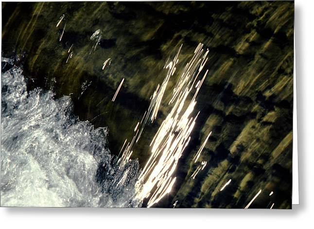 Effervescence Greeting Cards - Swirling Waters Greeting Card by Mike Flynn