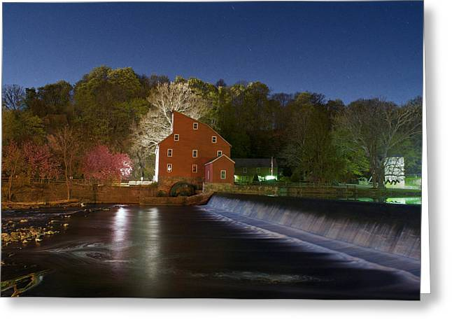 Hdr Landscape Greeting Cards - Swirling waters Greeting Card by Ryan Crane