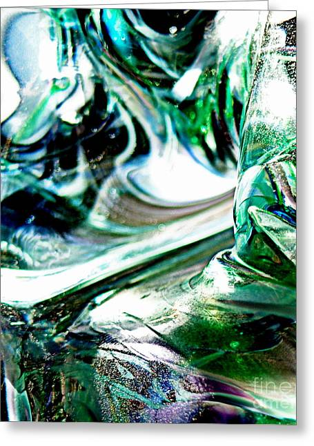 Recently Sold -  - Close Up Glass Greeting Cards - Swirls of Color and Light II Greeting Card by Kitrina Arbuckle