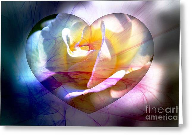 Recently Sold -  - Floral Digital Art Greeting Cards - Swirls of Love And Hope Greeting Card by Judy Palkimas